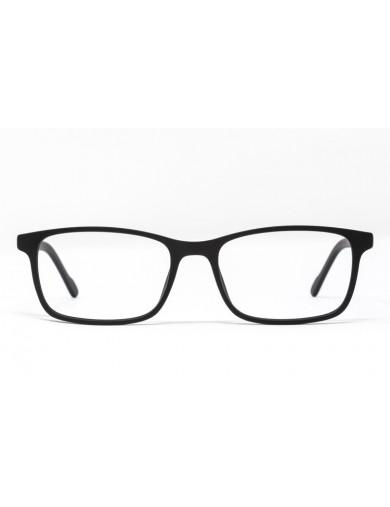 Gafa graduada Brady - gafa de pasta negra- Frontal