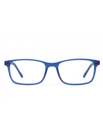 Gafa graduada Brady - gafa de pasta azul - Frontal