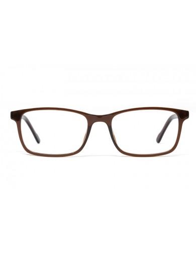 Gafa graduada Brady - gafa de pasta marrón - Frontal