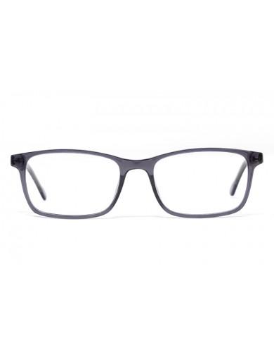 Gafa graduada Brady - gafa de pasta gris - Frontal