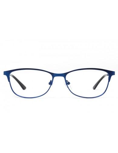 Gafa graduada Millie - Gafa metálica azul - Frontal
