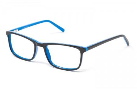 Gafa graduada Ander - Gafa de pasta negra con interior azul