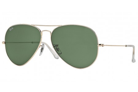 Gafa de sol Ray-Ban 3025 Dorada y Cristal verde