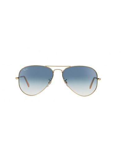 Gafa de sol Ray-Ban 3025 Dorada y Cristal Azul degradado