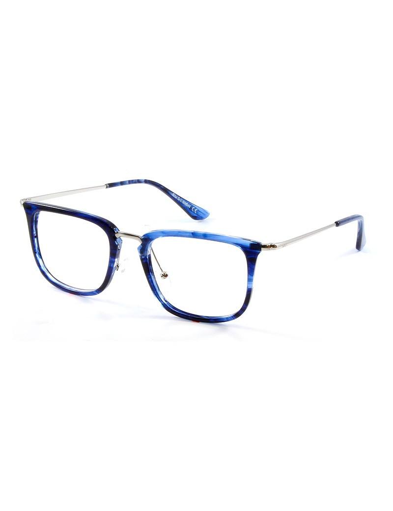 Gafa DowJones Lewis - Gafa graduada de pasta azul y metálica