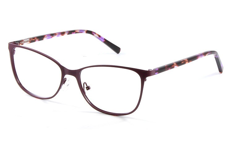 Gafa graduada Optimoda Loury; Gafa metálica completa violeta