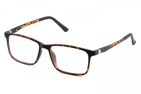 Gafa graduada Optimoda Finch; gafa de pasta con suplemento de sol polarizado imantado en color havana