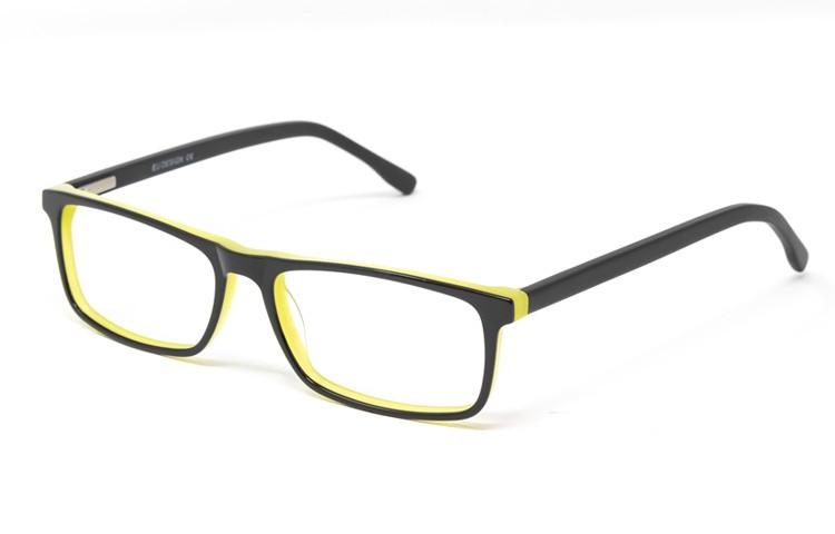 Gafa graduada Baker - Gafa de pasta negra con interior amarillo