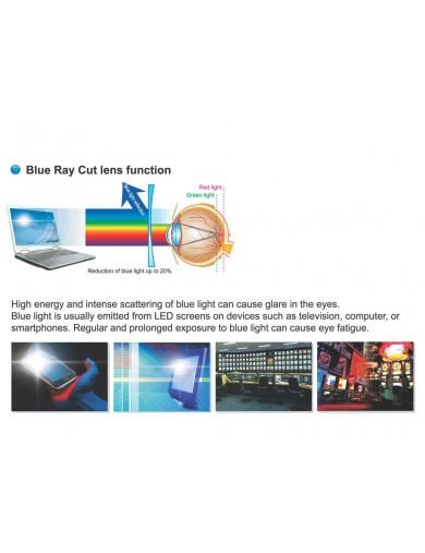 Gafa de lectura - Gafa de pasta Negro y Azul - Propiedades filtro Azul - Violeta