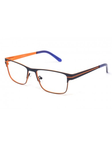 Gafa graduada Bensen - Gafa metálica azul con interior naranja
