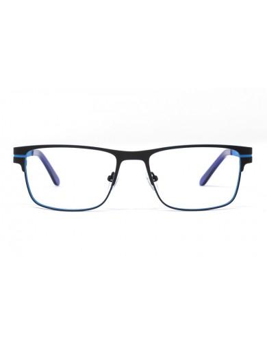 Gafa graduada Bensen - Gafa metálica azul - Frontal