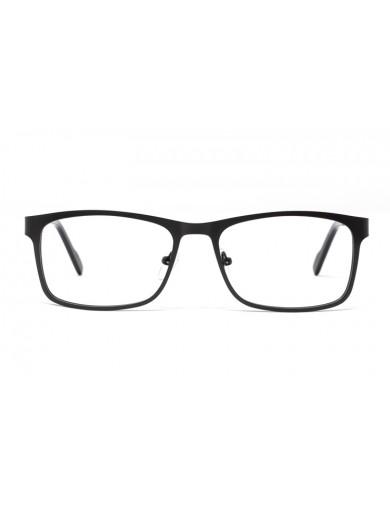 Gafa graduada Clear - Gafa metálica con frontal negro y varillas grises - Frontal