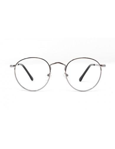 Gafa de graduado Oliver - Gafa metálica redonda gris - Frontal