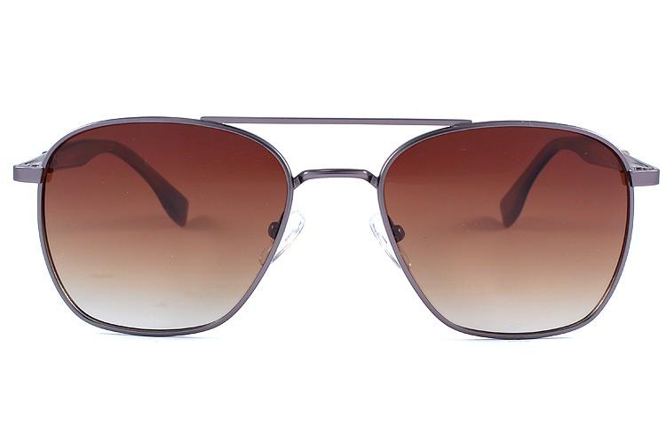 Gafa de sol 0024 - Gafa de sol metálica de color plateada con lentes degradadas