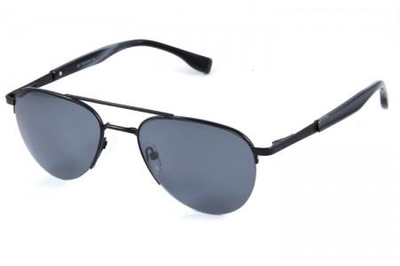 Gafa de sol 0025 - Gafa de sol metálica de color negro con lentes grises