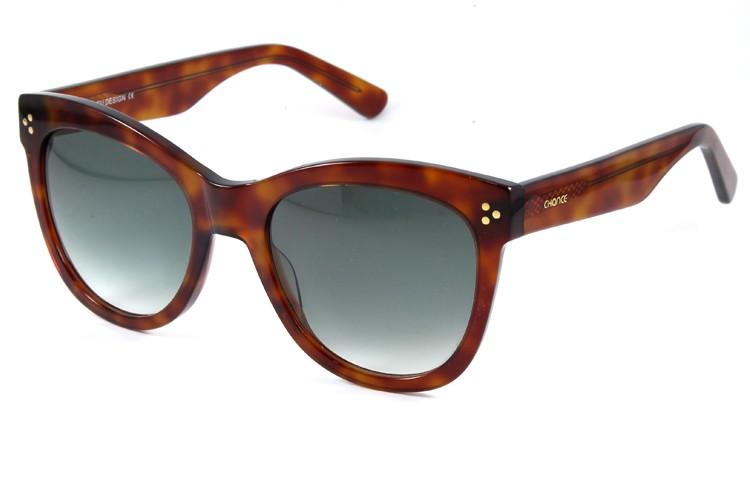 Gafa de sol 1072 - Gafa de sol de pasta de color habana con lentes degradadas