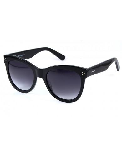 Gafa de sol 1072 - Gafa de sol de pasta de color negro con lentes degradadas