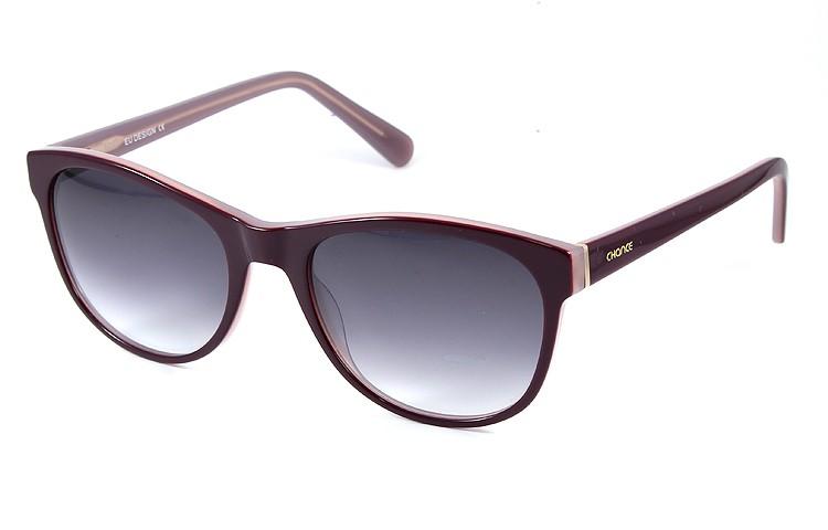 Gafa de sol 1073 - Gafa de sol de pasta de color morado con lentes degradadas