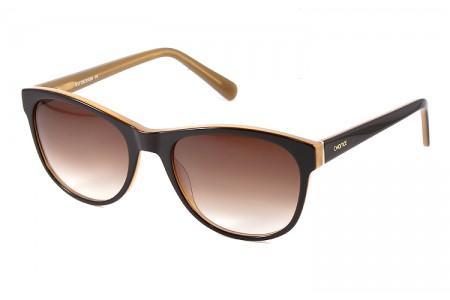 Gafa de sol 1073 - Gafa de sol de pasta de color marrón con lentes degradadas