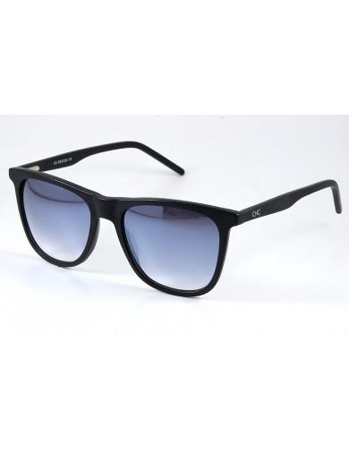 Gafa de sol 1074 - Gafa de sol de pasta de color negro con lentes degradadas y espejadas