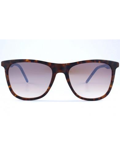 Gafa de sol 1074 - Gafa de sol de pasta de color marrón con lentes degradadas y espejadas