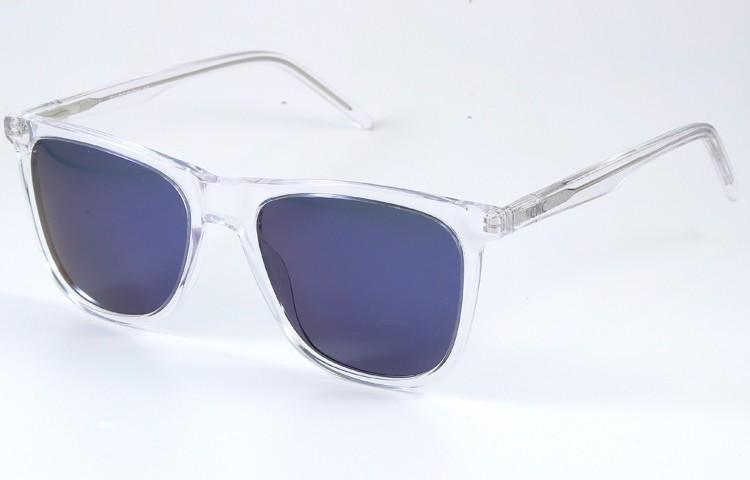 Gafa de sol 1074 - Gafa de sol de pasta transparente con lentes polarizadas espejadas