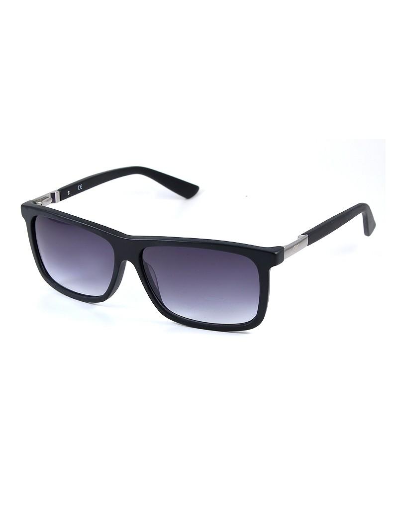 Gafa de sol 1075 - Gafa de sol de pasta de color negro con lentes degradadas