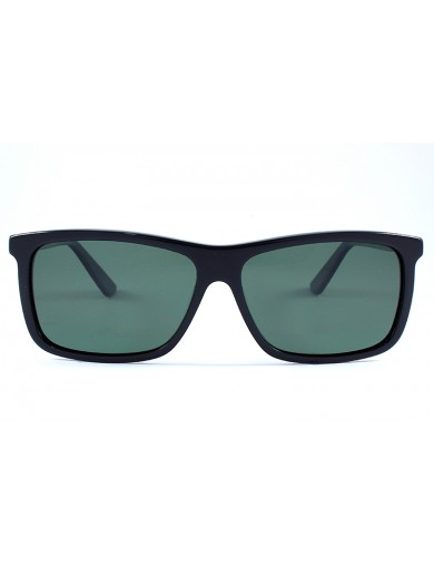 Gafa de sol 1075 - Gafa de sol de pasta de color havana con lentes verdes