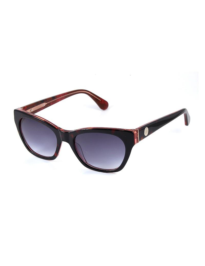 Gafa de sol 1076 - Gafa de sol de pasta de color negro con lentes grises degradadas