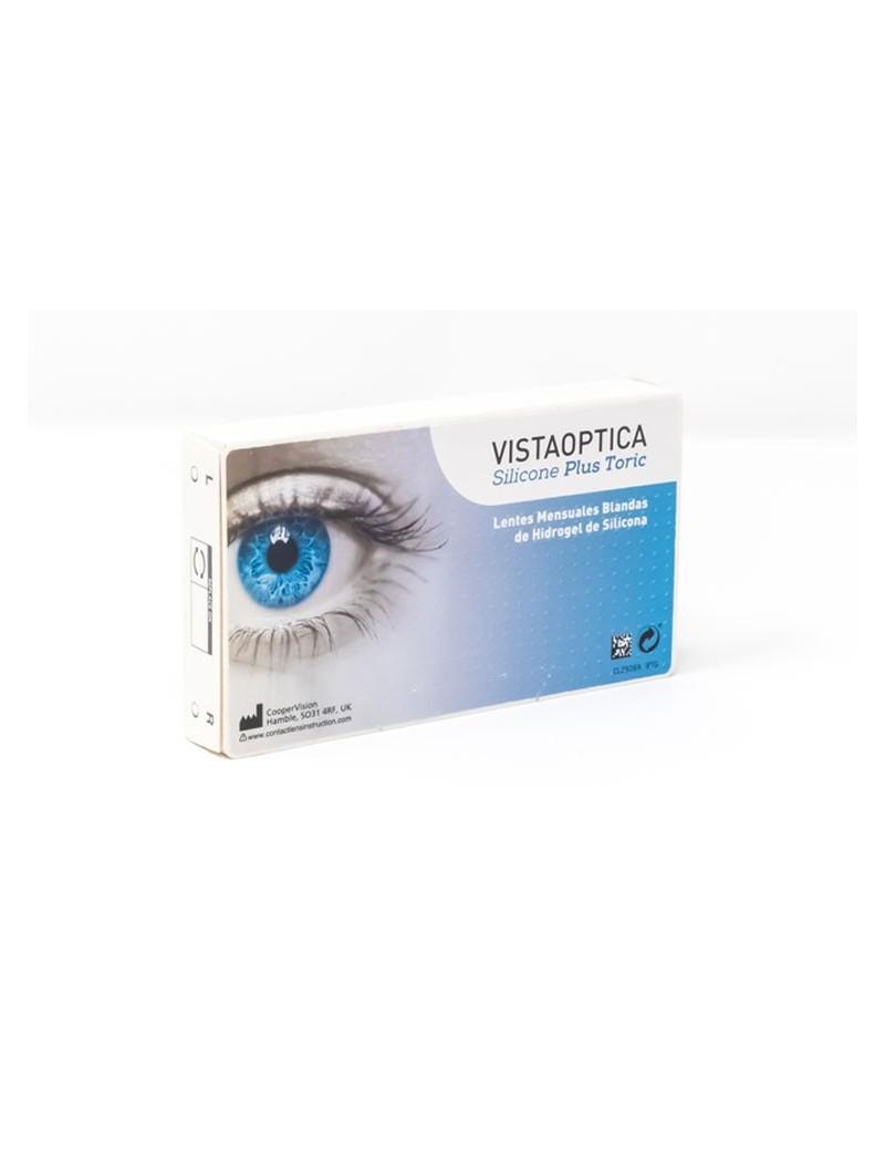 Pack de lentes de contacto VISTAOPTICA Silicone Plus Toric pack de 3 más 1 líquido solución única