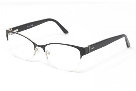 Gafas graduadas Maeve - Gafa metálica negra con varillas de pasta