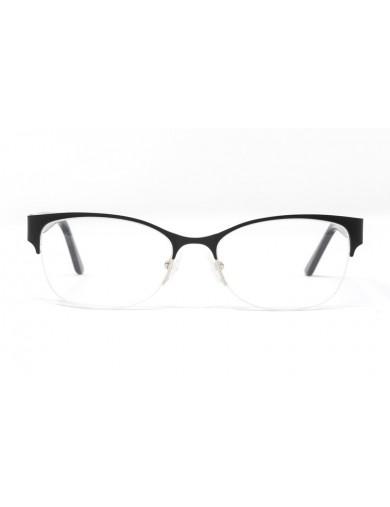 Gafas graduadas Maeve - Gafa metálica negra con varillas de pasta - Frontal