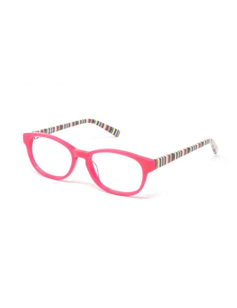 Gafa  graduada de niño Tate - Gafa de pasta con frontal rosa y varillas multicolor