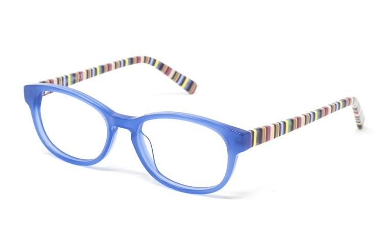 Gafa  graduada de niño Tate - Gafa de pasta con frontal azul y varillas multicolor