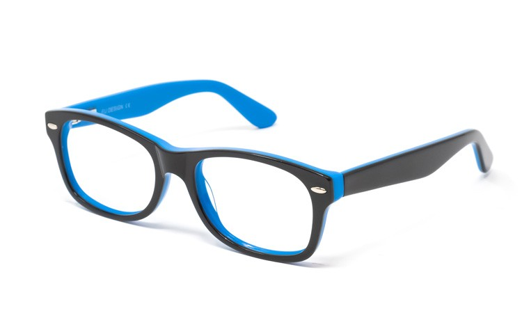 Gafa graduada de niño Way - Gafa de pasta con frontal negro e interior azul