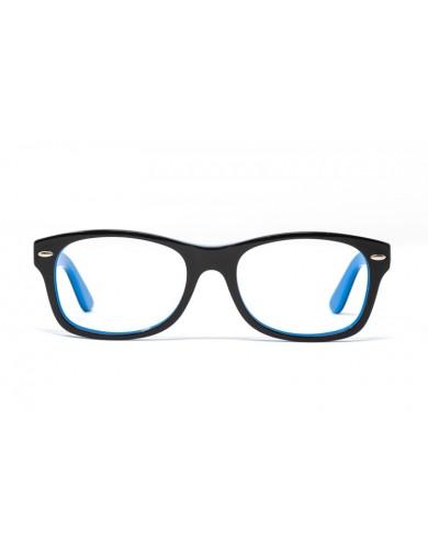 Gafa graduada de niño Way - Gafa de pasta con frontal negro e interior azul - Frontal