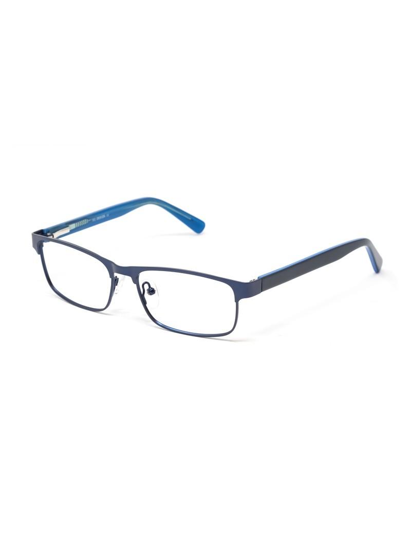 Gafa graduada Barnes - Gafa metálica azul con varillas de pasta