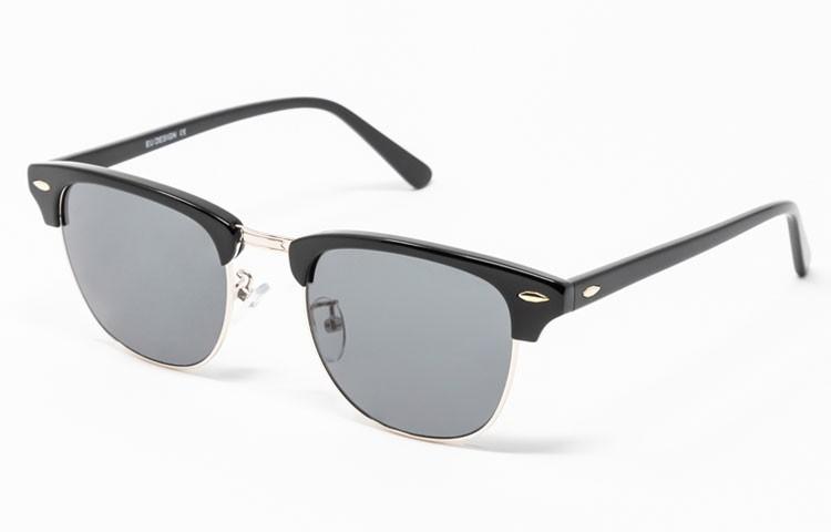 Gafa de sol Tess - Clubmaster - Montura de pasta negra con cristales grises