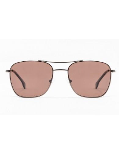 Gafa de sol Yates - Caravan - Gafa de sol metálica marrón con cristales marrones- Frontal