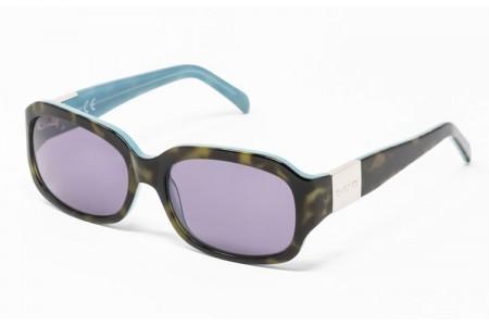 Gafa de sol Evelin - Gafa de pasta de color havana y azul y cristales grises