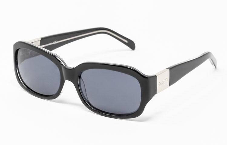 Gafa de sol Evelin - Gafa de pasta de color negro y cristales grises