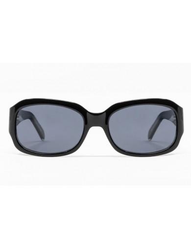 Gafa de sol Evelin - Gafa de pasta de color negro y cristales grises - Frontal