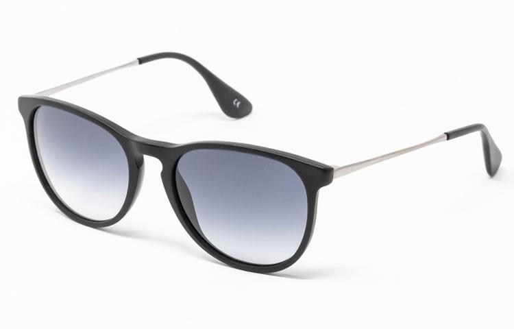 Gafa de sol Carey - Gafa de pasta con frontal negro y lentes grises degradadas