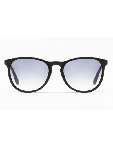 Gafa de sol Carey - Gafa de pasta con frontal negro y lentes grises degradadas - Frontal