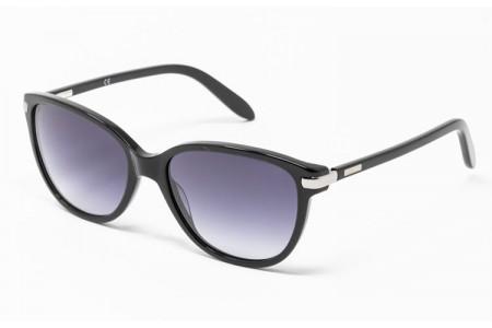 Gafa de sol - Gafa de sol de pasta negra con lentes grises degradadas