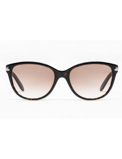 Gafa de sol - Gafa de sol de pasta marrón con lentes marrones degradadas - Frontal
