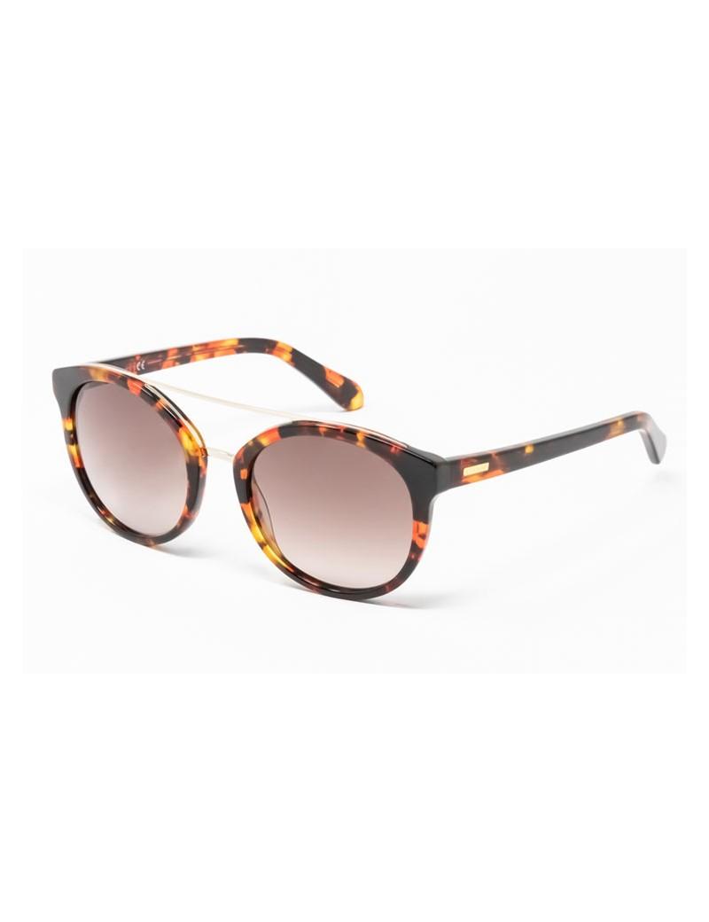 Gafa de sol Mercer - Gafa de sol de pasta de color havana y lentes marrones degradadas