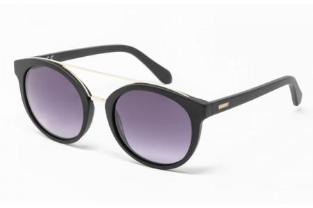 Gafa de sol Mercer - Gafa de sol de pasta de color negro y lentes grises degradadas
