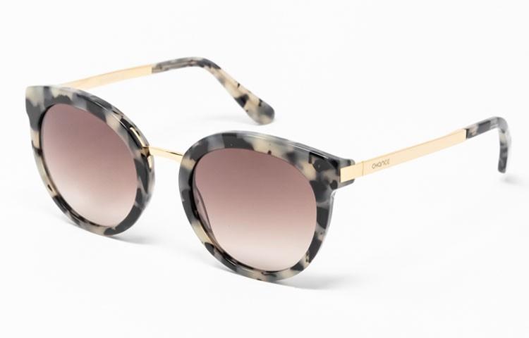 Gafa de sol Club - Gafa de sol con frontal havana claro y lentes marrones degradadas