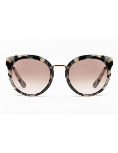 Gafa de sol Club - Gafa de sol con frontal havana claro y lentes marrones degradadas - Frontal